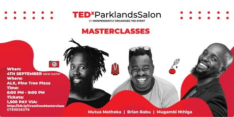 TEDxParklands Creatives Masterclass tickets