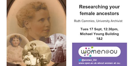 Researching your female ancestors: a seminar with the University Archivist tickets