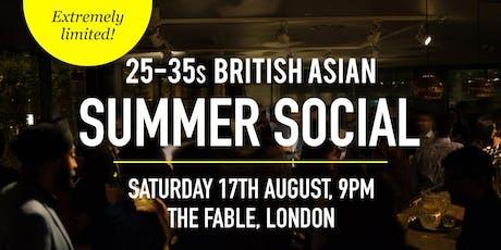 British Asian Summer Social Evening - 25-35s | London tickets