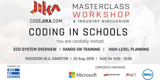 "CodeJIKA ""Coding in Schools"" Masterclass & Workshop"