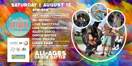 Costa Mesa ArtWalk + Dance Battle (3rd Saturdays) tickets