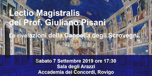 Lectio Magistralis di Giuliano Pisani. Giotto e la Cappella degli Scrovegni