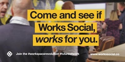 Works Social Open Evening Wednesday 16th October, 5-7pm - You're invited!