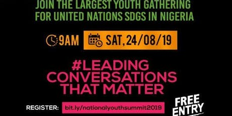 National Youth Summit For UN SDGs 2019 tickets