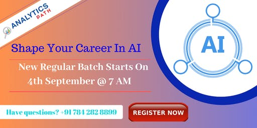 Enroll For Artificial intelligence New Regular Batch From 4th Sep @ 7 AM