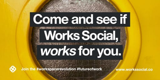 Works Social 'Drop In' Monday 7th October 12-1pm - You're invited!