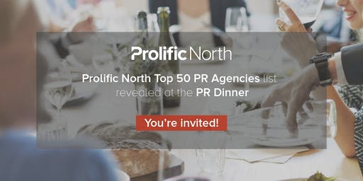 Prolific North PR dinner