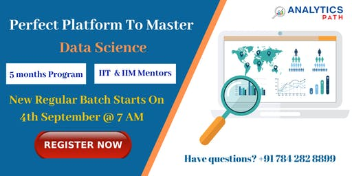 Enroll For Data Science New Regular Batch  From 4th Sep @  7 am