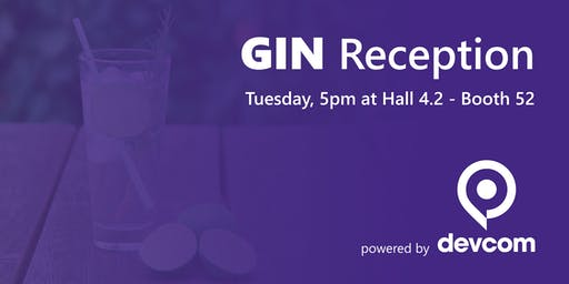 GIN reception powered by devcom