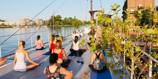 Sunset Yoga on a Boat