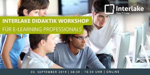 Interlake Didaktik Workshop für E-Learning Professionals