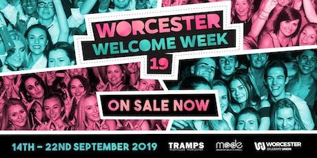 Welcome Week 19 Wristband tickets
