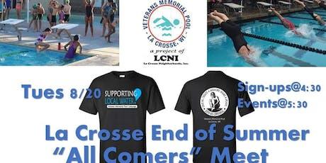 All Comers Swim Meet - La Crosse End of Summer tickets