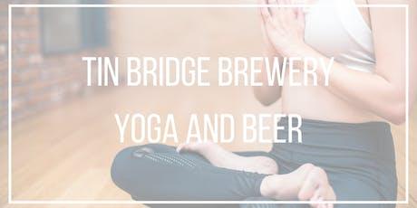Tin Bridge Brewing Yoga and Beer tickets