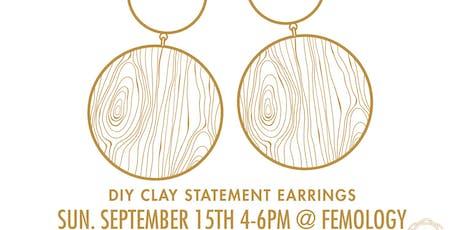 Designer Hack : DIY Clay Statement Earrings tickets