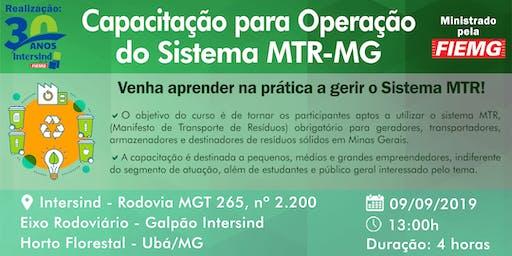 Curso: Capacitação para Operação do Sistema MTR-MG - Ministrado pela FIEMG