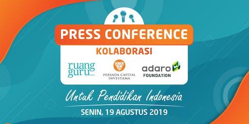 Press Conference: Kolaborasi untuk Pendidikan Indonesia