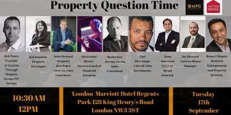 17th September Property Question Time tickets
