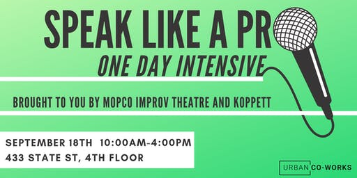 Speak Like a Pro: One Day Intensive