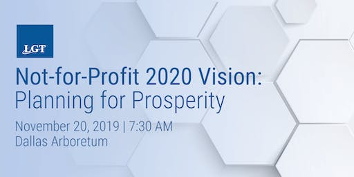 Not-for-Profit 2020 Vision: Planning for Prosperity