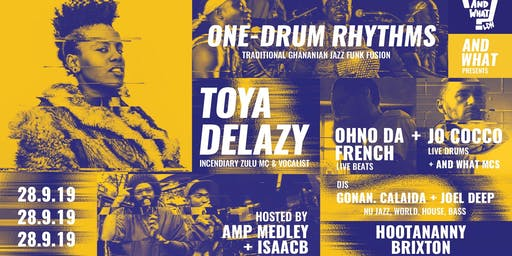 And What? Toya Delazy // One-Drum Rhythms & More at Hootananny
