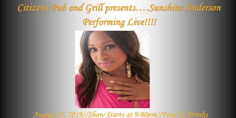 Citizens Pub and Grill Presents Sunshine Anderson Performing Live tickets