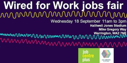 Warrington Wired for Work jobsfair - 18 September 2019
