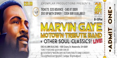 MARVIN GAYE MOTOWN TRIBUTE BAND CONCERT! @ THE OSD ALUMNI ASSOCIATION! MARVIN'S PARTY!