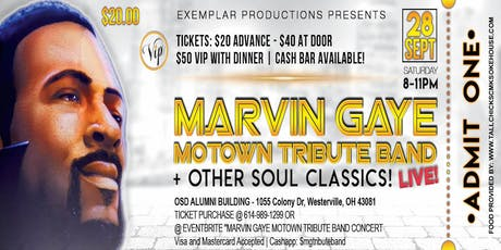 MARVIN GAYE MOTOWN TRIBUTE BAND CONCERT! @ THE OSD ALUMNI ASSOCIATION! MARVIN'S PARTY! tickets