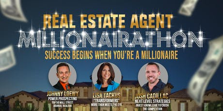 Real Estate Agent Millionairathon tickets