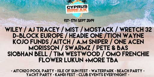 Cyprus Break September 1st-8th 2019