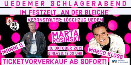Uedemer Schlagerabend 2019 Tickets