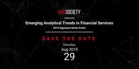 Emerging Analytical Trends in Financial Services tickets