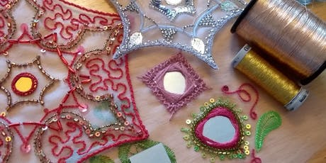 Glint and shimmer: Tambour Embroidery for Beginners. 3 sessions, 2 hours each. 3 Thursday mornings, start 31st Oct tickets
