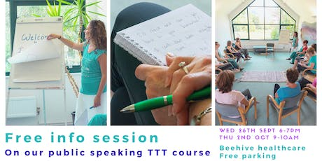 Free info session on our Public Speaking TTT course tickets