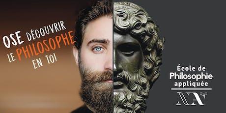Atelier d'introduction à la philosophie appliquée tickets