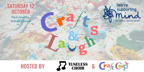 Crafts & Laughs - in support of Mind tickets