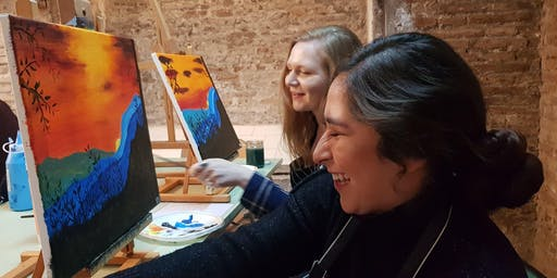 Art&Wine I Paint And Sip With Me in Barcelona