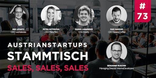 AustrianStartups Stammtisch #73: Sales, Sales, Sales