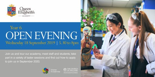Open Evening 2019 - Queen Elizabeth's Academy, Mansfield