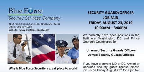 Security Officer's Job Fair tickets