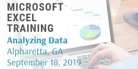 Microsoft Excel 2 Hour Training Class - Analyzing Data tickets