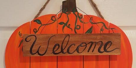 Wooden Pumpkin Cutout tickets
