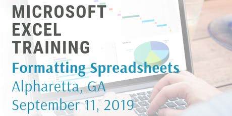 Microsoft Excel 2 Hour Training Class - Formatting Spreadsheets tickets