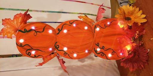 Light-Up Pumpkin Cutout