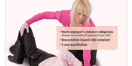 Level  3 Emergency First Aid at Work Course  tickets