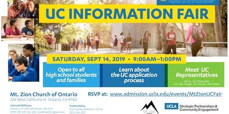 UCLA College Information Workshop tickets