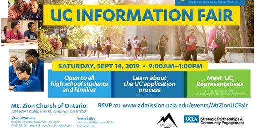 UCLA College Information Workshop
