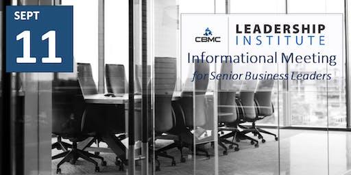 CBMC Kansas/Kansas City - Leadership Institute Informational Meeting