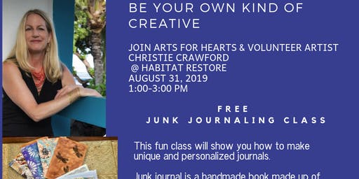 Junk Journal Class with Christie Crawford, Mixed Media Artist